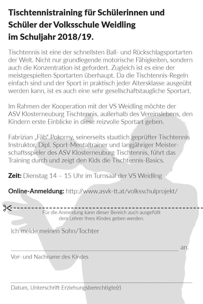 ASVK Volksschul-Tischtennis 2018/19