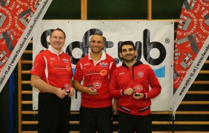 Michael Habel (3.), Sami Ben-Mohamed (1.) und David Barcena (2.), v.l.
